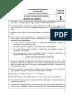 Prova Estagio MPF - Direito - 2016