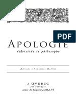 Apologi Ed Aristide