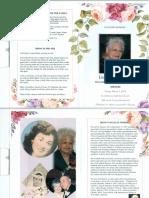 Irene G. Fimbres Memorial Pamplet