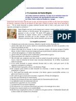 15 Oraciones de Santa  Brigida