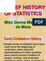 A Brief History of Statistics