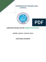 DINAMICA ROTACIONAL EJERCICIOS RESUELTOS ESPOL.pdf
