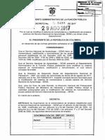 Decreto 1433 Del 29 de Agosto de 2017