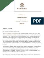 Papa Francesco 20180307 Udienza Generale