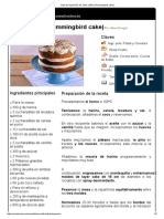 Hoja de Impresión de Tarta Colibrí (Hummingbird Cake)
