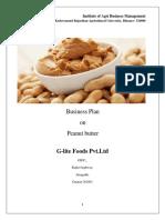 business plan on peanut butter
