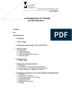 p0365v1-1 the Managament of Change; An Introduction
