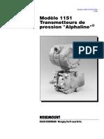 Transmeteur de Pression Modélle 11514 Alphaline