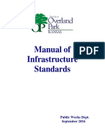 Manual of Infrastructure Standards for Right of Way Restoration
