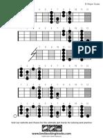 Bbt Bass Scale Major b