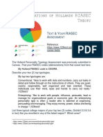 tmr holland riasec theory application