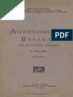 Boldur Autonomia Basarabiei 1929