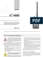 Icom IC-M88 Instruction Manual
