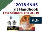 snhs student handbook 17-18
