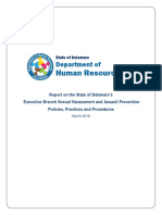 Executive Branch Sexual Harassment and Assault Prevention Policies Practices and Procedures March 2018