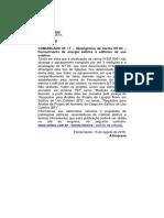 COMUNICADO Nº 17 - Abrangência Da Norma NT-03