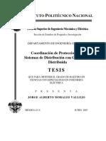 Coordinacion de Protecciones en Sistemas de Distribucion Con Generacion Distribuida