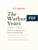 Ernst Cassirer; S. G. Lofts Trans. the Warburg Years 1919-1933 Essays on Language, Art, Myth, And Technology