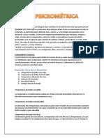 INTRODUCCIÓN PSICROMETRIA INFORME