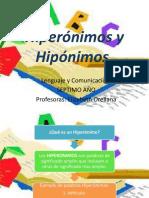 Hiperónimos e Hipónimos 7mo