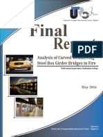 Final Report Analysis of Curved Weathering Steel Box Girder