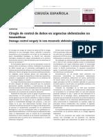 Cirugía de Control de Daños en Urgencias Abdominales No Traumáticas
