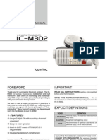 Icom IC-M302 Instruction Manual