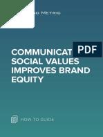 Communicating Social Values Improves Brand