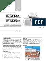 Icom IC-M402 Instruction Manual