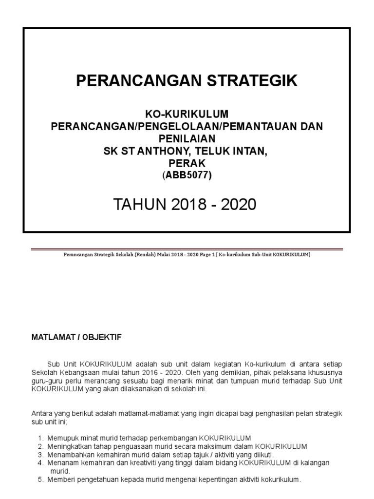 Pelan Strategi 2018 Doc