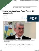 Compilação de pensamentos críticos a respeito de Paulo Freire e sua obra
