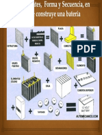 Componentes , Formas y Secuencia de Una Bateria