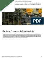 Renta de Plantas de Luz - Tabla de Consumo de Combustible