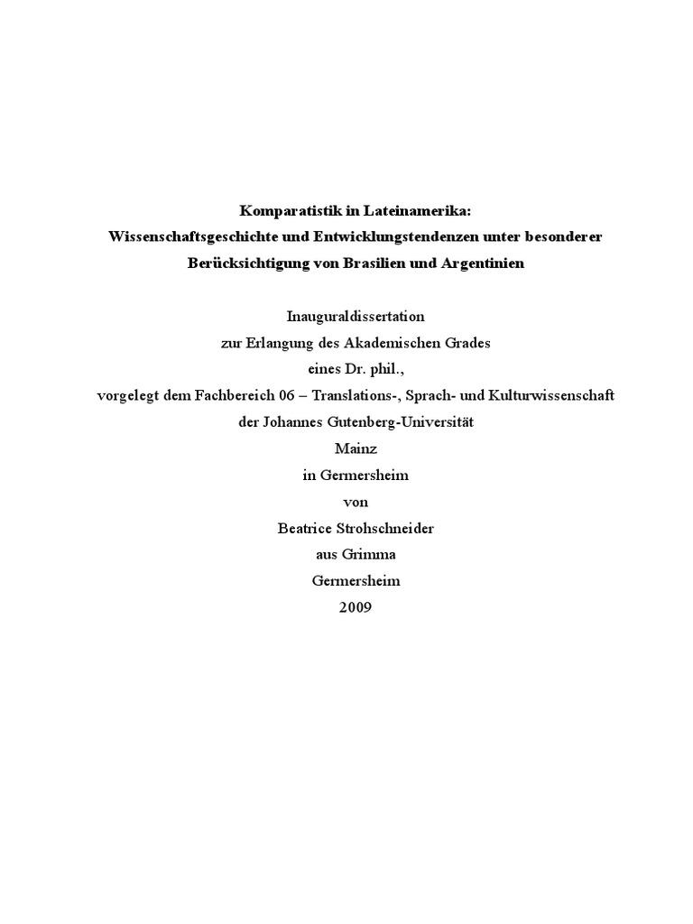 Strohschneiderkomparatistik In Lateinamerikapdf