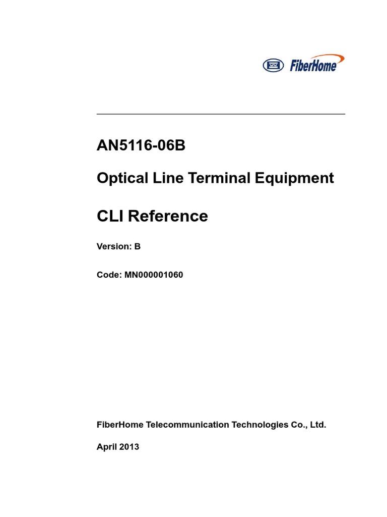 CLI Fiberhome OLT | Network Switch | Subroutine