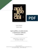 2014_Apoio Público, Reconhecimento e Organizações Culturais_o Caso Do Teatro