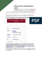 Período de Funciones de Magistrados y Jueces