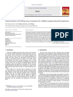 Characteristics of Fretting Wear Resistance for Unfilled Engineering Thermoplastics
