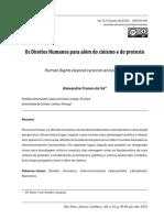 Os Direitos Humanos para além do cinismo e do protesto_Alexandre Franco de Sá