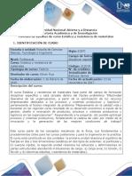 Syllabus Del Curso Estática y Resistencia de Materiales