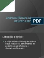 Características Del Genero Lirico