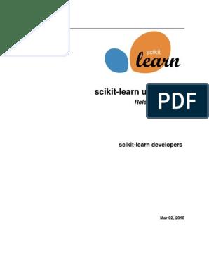scikit-learn-docs pdf | Thread (Computing) | Installation (Computer