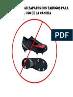 Se Prohibe Usar Zapatos