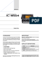 Icom IC-M504 Instruction Manual