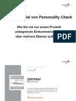 Das Potential von Personality Check