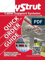 EzyStrut Cable Support Quick Order Guide 2015