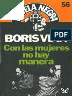 Vian, Boris - Con Las Mujeres No Hay Manera [10353] (r1.3)