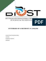 modukanele_synthesisof4methoxyAniline_chem405