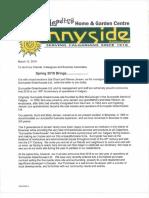 Sunnyside Letter