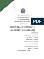 Tema i. Fusión, Transformación y Liquidación de Sociedades Mercantiles
